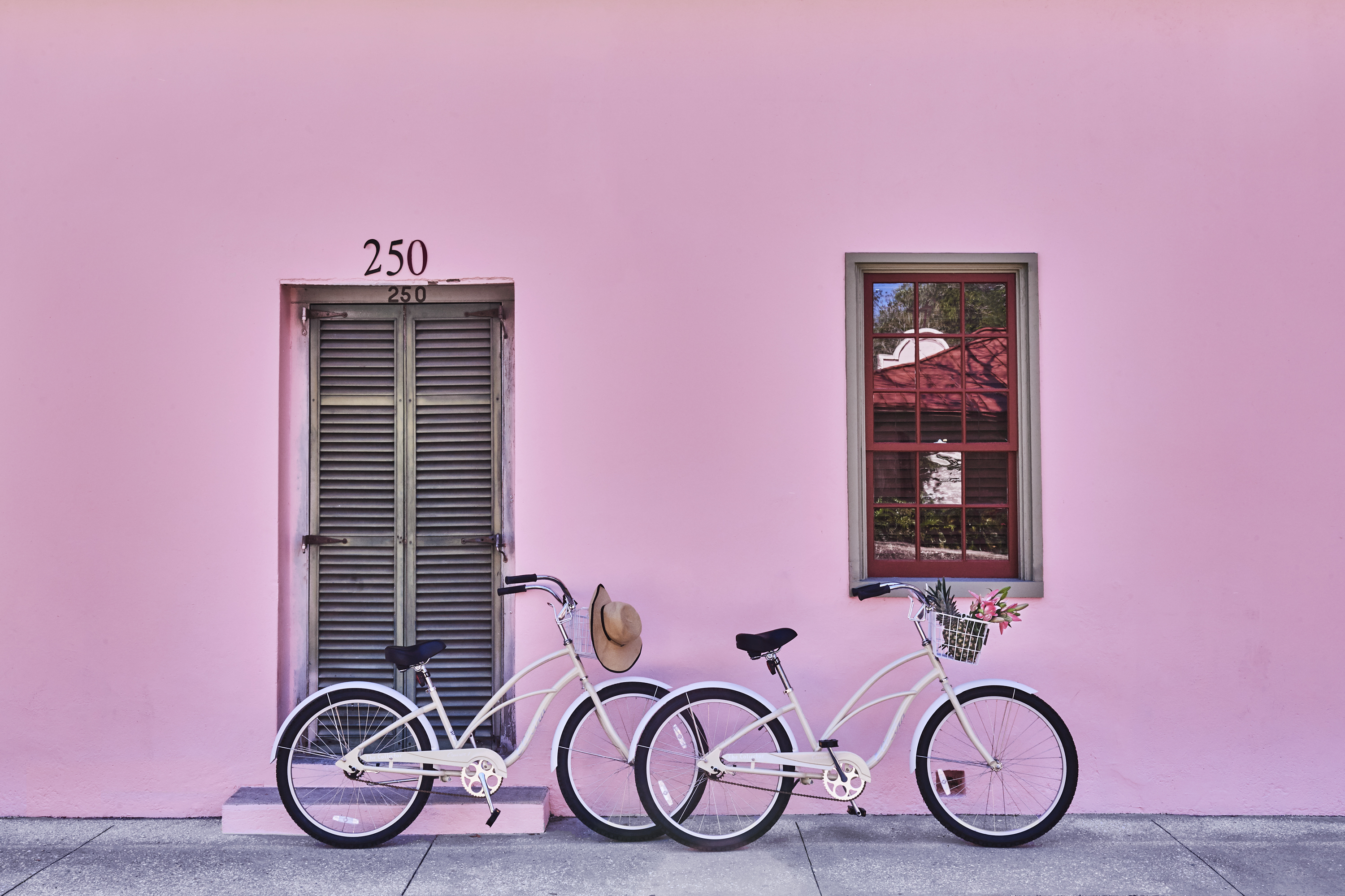 Explore the city on a vintage bicycle.