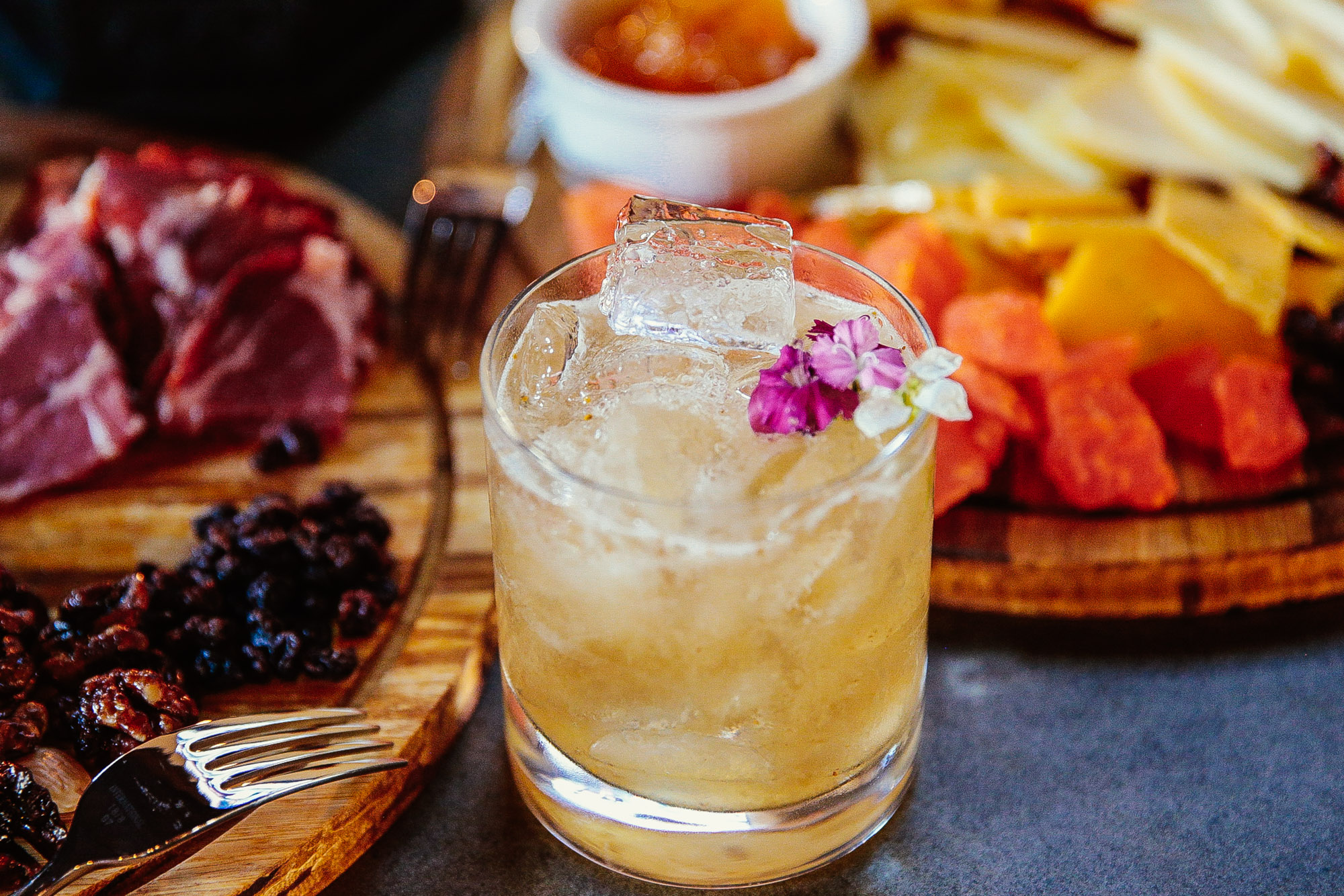 Savor a cocktail and charcuterie board at The Well Bar.