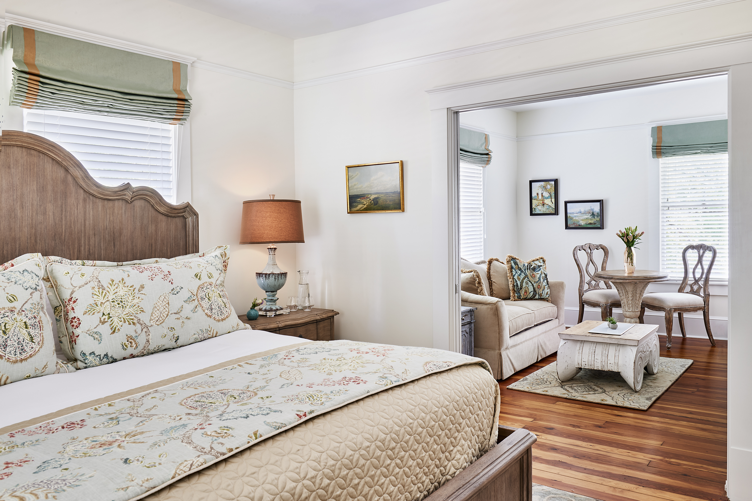 Stay in a room inside one of the property's historic homes that date back to 1790.