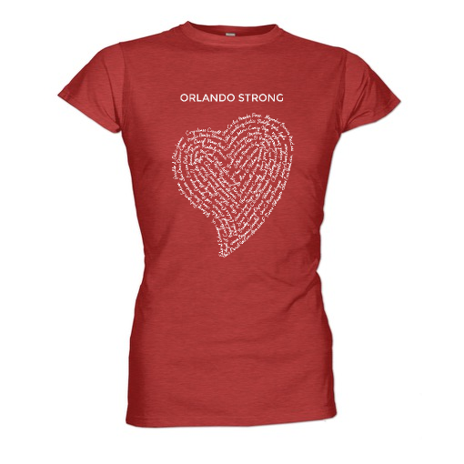 orlando strong womens red t shirt