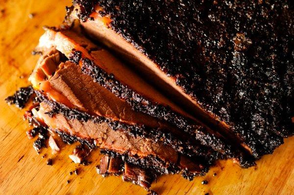 smoke meat beef brisket