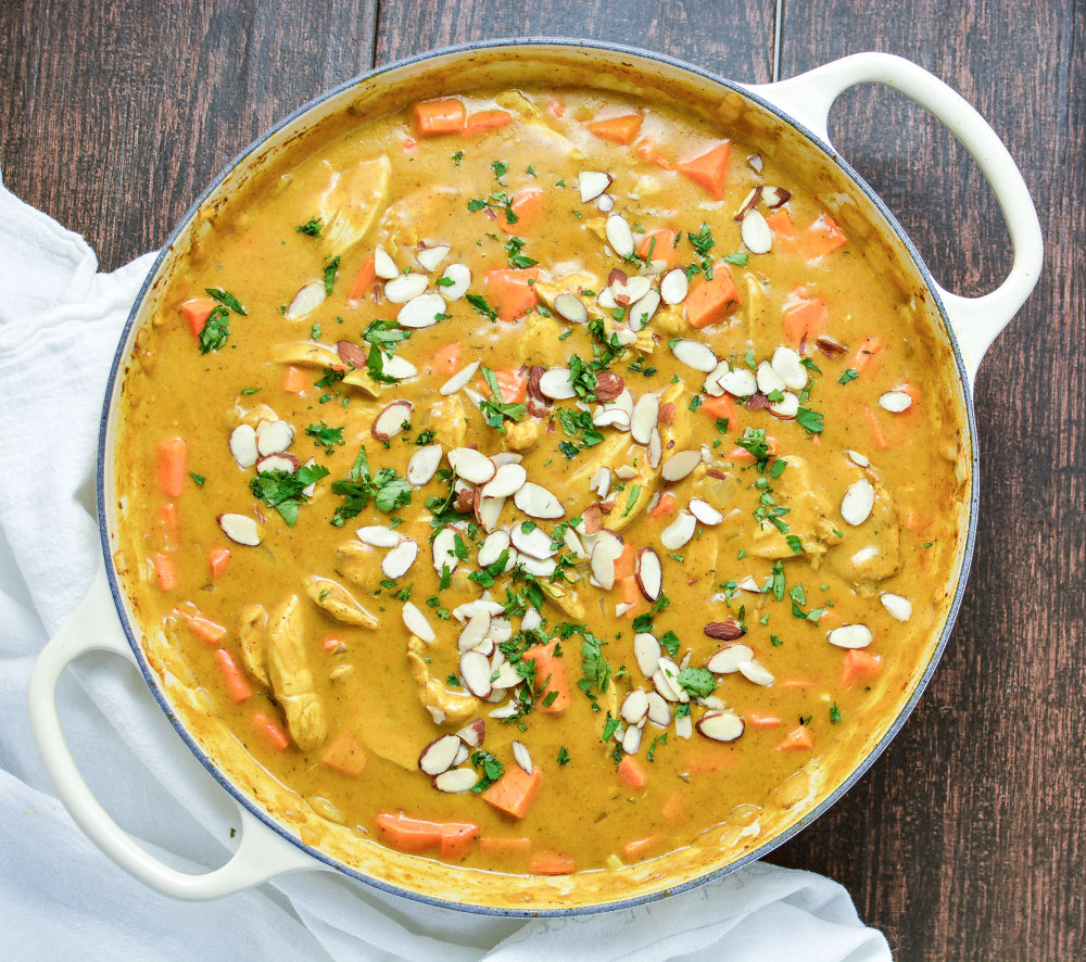 YMCA Recipe: Curried Sweet Potatoes with Almonds