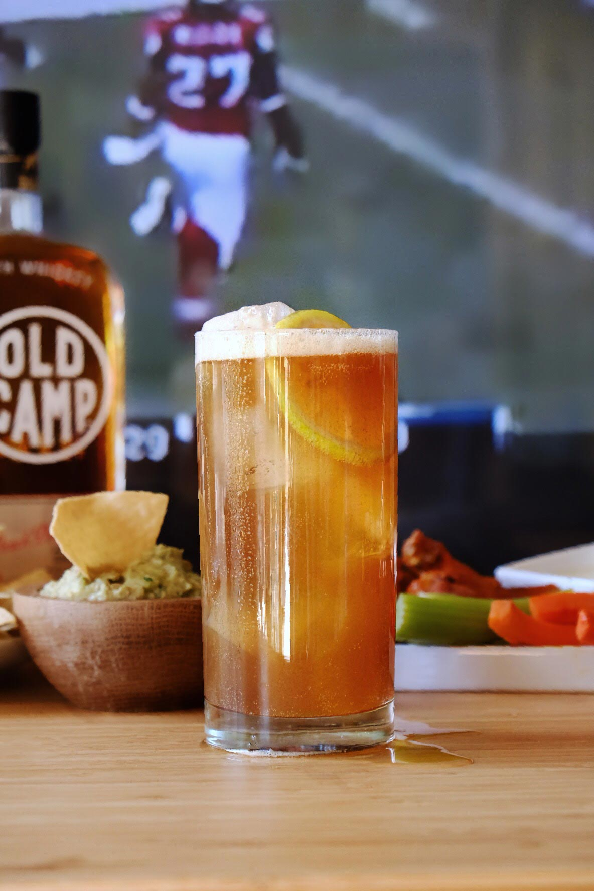 Recipe: Super Bowl Inspired Cocktail from Old Camp Whiskey