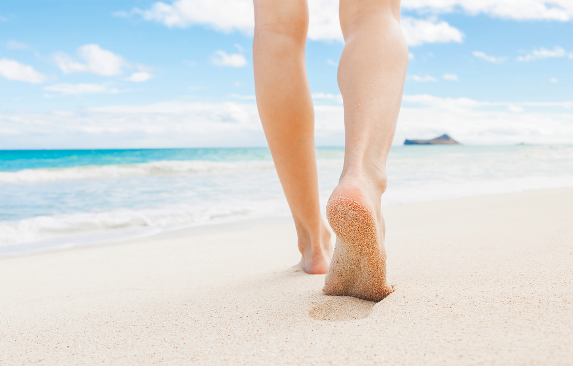 Are Walks on the Beach Painful?