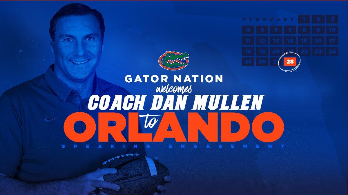 Gators Mullen visits downtown Orlando