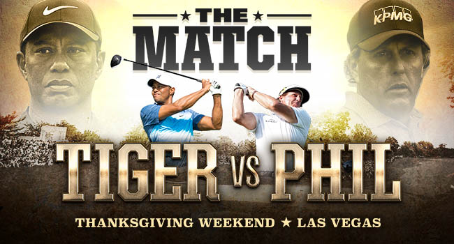 """""""The Match"""" between Tiger Woods, Phil Mickelson draws near"""